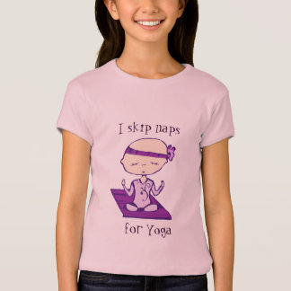 T-shirt je saute des petits sommes pour le yoga