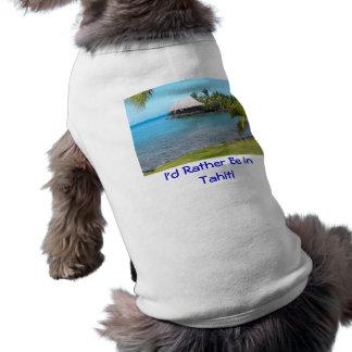 """T-shirt """"Je serais plutôt chemise d'animal familier au Tah"""