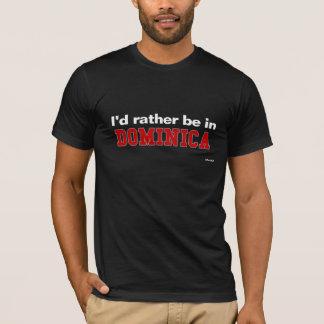 T-shirt Je serais plutôt en Dominique