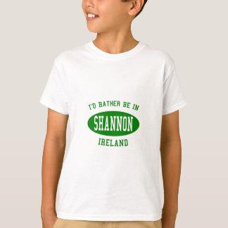 T-shirt Je serais plutôt en Shannon, Irlande