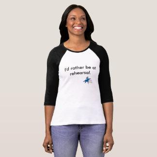"""T-shirt """"Je serais plutôt la pièce en t de base-ball à"""