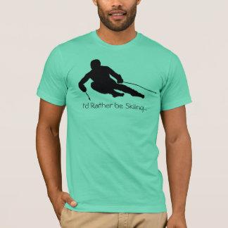 T-shirt Je skierais plutôt…