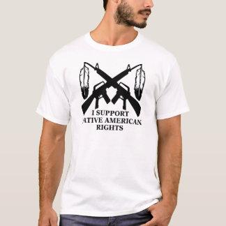 T-shirt Je soutiens des droits de Natif américain
