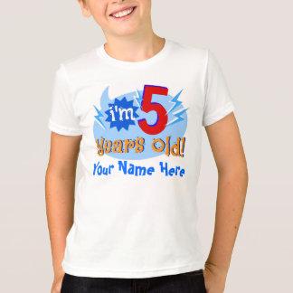 T-shirt Je suis 5 années ! (Personnalisez avec le nom de
