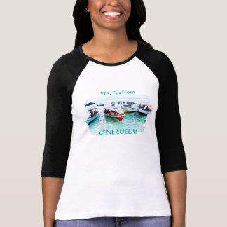 T-shirt Je suis au Venezuela : Bateaux de Fisher dans