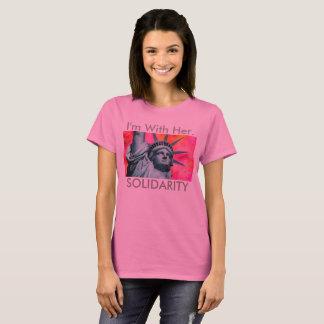 T-shirt Je suis avec elle - Madame Liberty - statue de la
