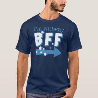 T-shirt Je suis avec mon BFF (droit)