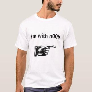 T-shirt Je suis avec n00b