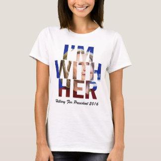T-shirt Je suis avec sa Hillary Clinton