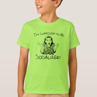 T-shirt Je suis censé être eu une vie sociale ?