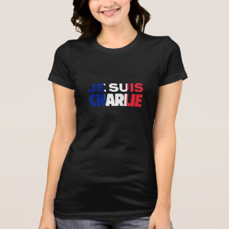 T-shirt Je Suis Charlie - je suis Charlie tricolore de la