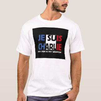T-shirt Je Suis Charlie mon stylo est mon arme