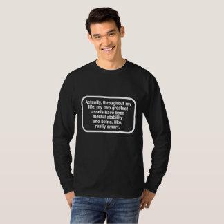 T-shirt Je suis comme la pièce en t foncée vraiment futée