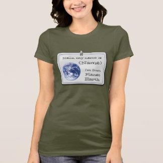 T-shirt Je suis de la terre de planète (personnalisable)