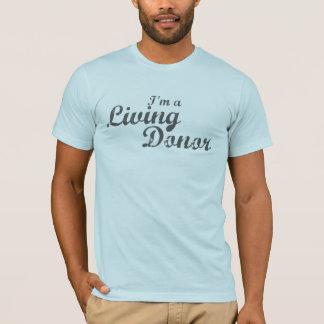 T-shirt Je suis donateur vivant d'A - gris affligé