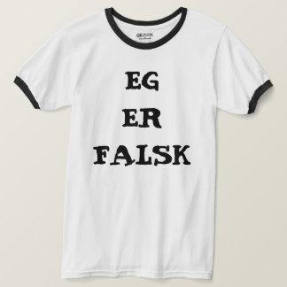 T-shirt Je suis faux dans le blanc norvégien