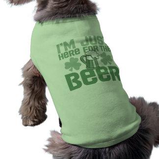 """T-shirt """"Je suis juste ici pour la bière"""""""