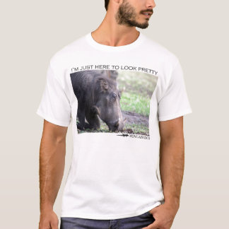 T-shirt Je suis juste ici pour regarder assez - le warthog
