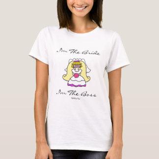 T-shirt Je suis la jeune mariée… que je suis le patron