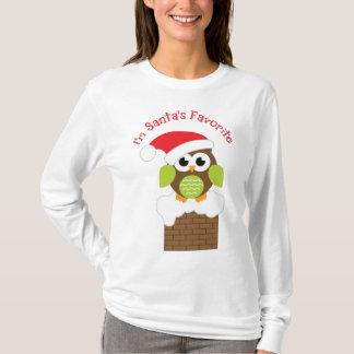 T-shirt Je suis le hibou préféré de Père Noël