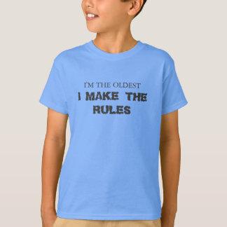 T-shirt Je suis le plus vieux, I établis les règles