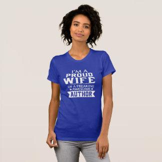 T-shirt Je suis l'ÉPOUSE de l'AUTEUR FIER