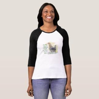 T-shirt Je suis Madame folle de poulet