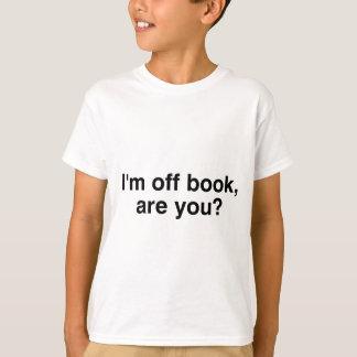 T-shirt Je suis outre de livre, et vous ?