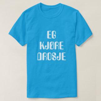 T-shirt Je suis taxi d'entraînement dans le bleu norvégien