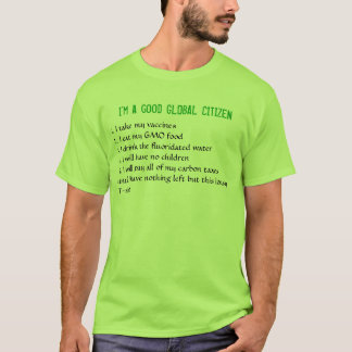 T-shirt Je suis un bon CITOYEN GLOBAL