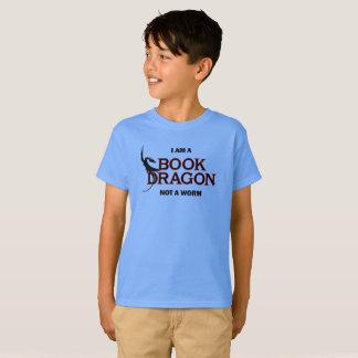 T-shirt Je suis un dragon de livre, pas un ver