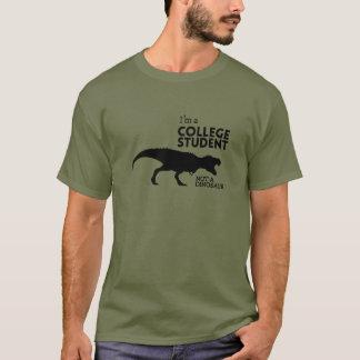 T-shirt Je suis un étudiant universitaire, pas un