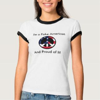 T-shirt Je suis un faux Américain, et fier de lui !