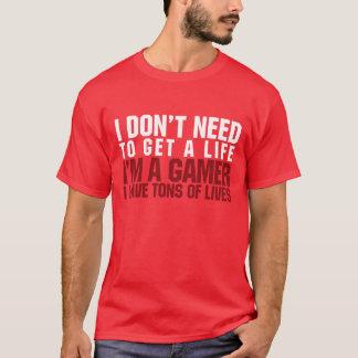T-shirt Je suis un Gamer