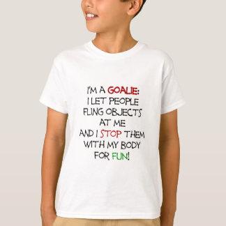 T-shirt Je suis un gardien de but - choses de fling !