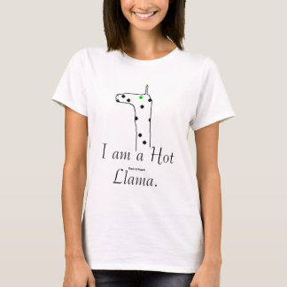 T-shirt Je suis un lama chaud