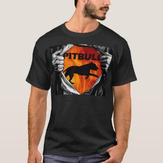 T-shirt Je suis un Pitbull à l'intérieur de grande chemise