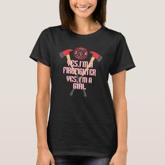 T-shirt Je suis un sapeur-pompier et une fille