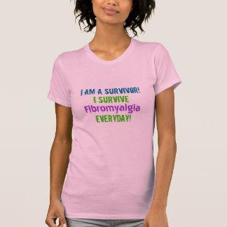 T-shirt Je suis un survivant ! , Je survis, fibromyalgie,