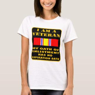 T-shirt Je suis un vétéran que mon serment d'enrôlement a