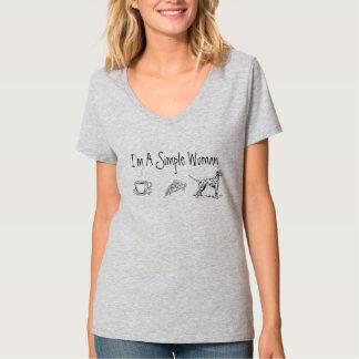 T-shirt Je suis une femme simple