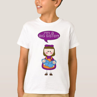 T-shirt je suis une grande soeur ! (garçons jumeaux)