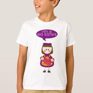 T-shirt je suis une grande soeur (les filles jumelles)