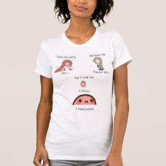 T-shirt Je suis une pomme de terre de kawaii