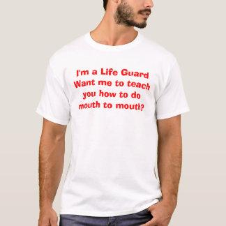 T-shirt Je suis une vie GuardWant je pour vous enseigner