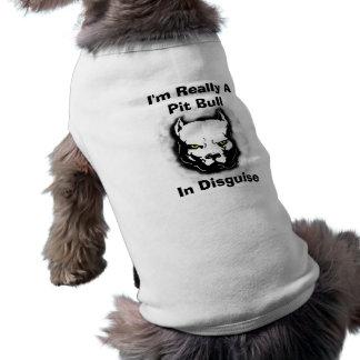 T-shirt Je suis vraiment un pitbull dans le déguisement
