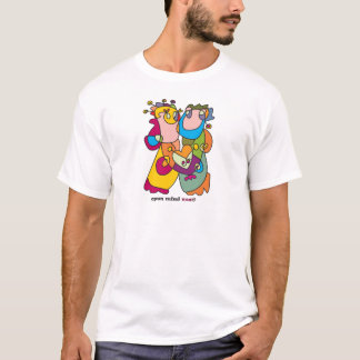 T-shirt je t'aime art naïf de couples