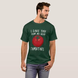 T-shirt Je t'aime de ma tomate dessinée par tomates