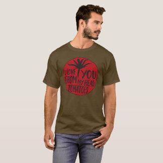 T-shirt Je t'aime de mes tomates principales