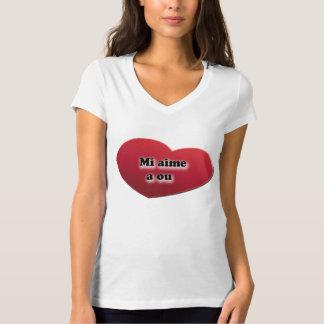 T-shirt Je t'aime en créole réunionnais: mi aime a ou